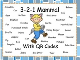 3-2-1 Mammals With QR Codes (Common Core Aligned) 36 Animals