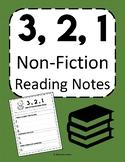 3, 2, 1 Non-Fiction Reading Notes