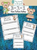 3-2-1 Nonfiction Summary Note Taking Templates