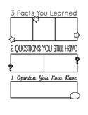 3-2-1 Post-activity sheet