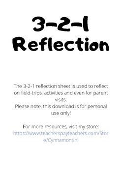 3-2-1 Reflection