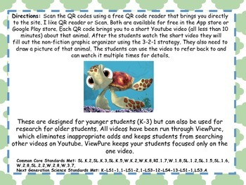 3-2-1 Reptiles With QR Codes (Common Core Aligned)