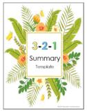 3-2-1 Summary Template