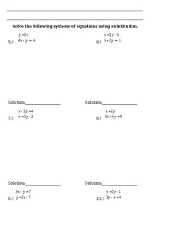 3.2 Day 1 Practice - Substitution