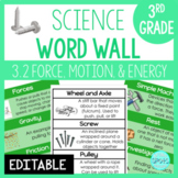 Force and Motion: 3rd Grade Science Word Wall