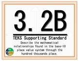 3.2B TEKS: Place Value Math Task Cards