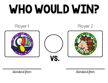 3.2D - Who Would Win? - Comparing Whole Numbers Activity - ENGLISH ONLY