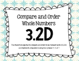 3.2D Compare and Order Whole Numbers