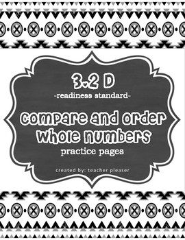 3.2D TEKS -Compare and Order whole numbers