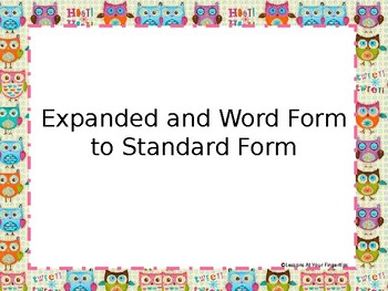 3.2a Expanded and Word Form to Standard-Practice Questions