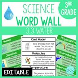Matter: 3rd Grade Science Word Wall