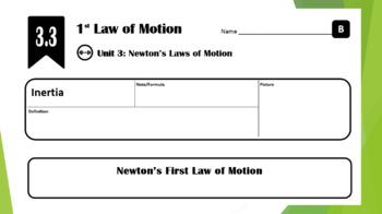 Lesson 3.3 - Newton's 1st Law of Motion (Inertia)