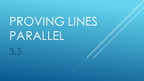 3.3 Proving Lines Parallel Lesson PowerPoint