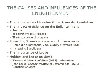 2.3 The Enlightenment - Presentation