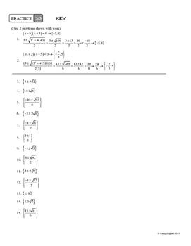 3-3 The Quadratic Formula