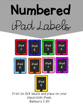 3.3 x 4 Labels for iPads