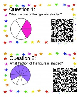 3.3A Identifying Fractions QR Scan