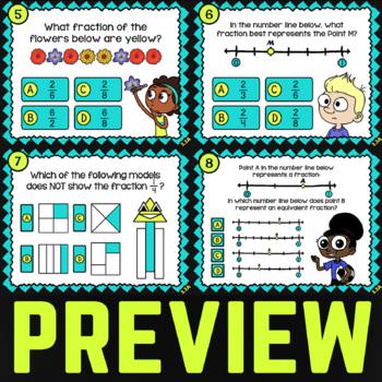 3.3A: Modeling Fractions ★ 3rd Grade TEKS Math Task Cards ★ STAAR Math Practice