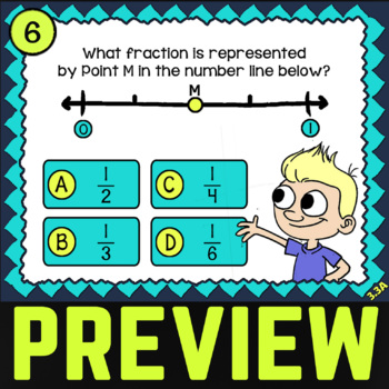 Math TEK 3.3A ★ Modeling Fractions ★ 3rd Grade Task Cards