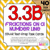 3.3B: Fractions On Number Lines STAAR Test Prep Task Cards (GRADE 3)