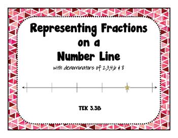 3.3B Representing Fractions on a Number Line - Task Card Activity