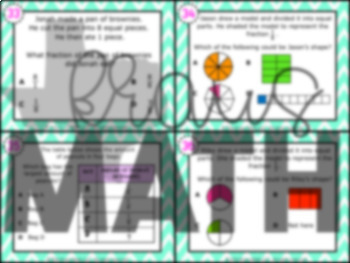 3.3C: Unit Fractions STAAR Test Prep Task Cards (GRADE 3)