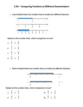 3.3F Comparing Fractions with diff. denominators