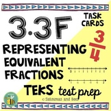 3.3F Representing fractions task cards {STAAR test prep}