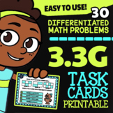 3.3G: Equivalent Fractions with Models ★ STAAR Task Cards
