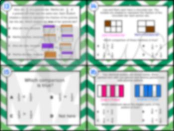 3.3H: Compare Like Fractions STAAR Test-Prep Task Cards (GRADE 3)