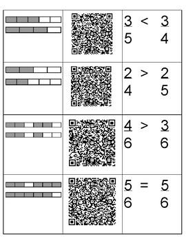3.3H Comparing Fraction Models QR