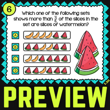 3.3H Comparing Fractions ★ Math TEK 3.3H ★ 3rd Grade STAAR Math Word Problems