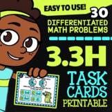 Math TEK 3.3H ★ Comparing Fractions ★ 3rd Grade STAAR Math Practice Task Cards