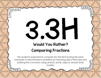 3.3H Comparing Fractions (Would You Rather?)