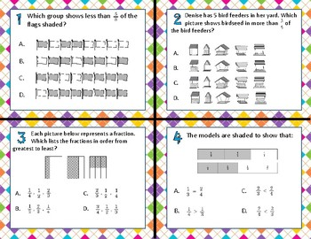 3.3H Comparing Fractions task cards
