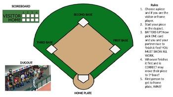 3-4 Digit Addition Baseball Center Game