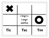 3 & 4-Digit Addition Tic-Tac-Toe