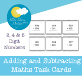 Adding and Subtracting Maths Task Cards