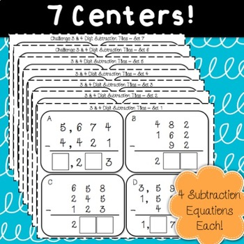 3 & 4 Digit Subtraction Tiles