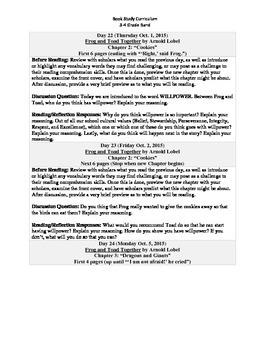 3-4 Grade Band Reading Curriculum/Program (October)