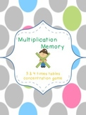 3 & 4 Multiplication Memory