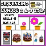 3 & 4 Step Sequencing Bundle ABA Autism ABLLS-R B25 B26 three & four step