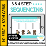 3-4 Step Sequencing BOOM Cards™️ Speech Therapy Distance Learning