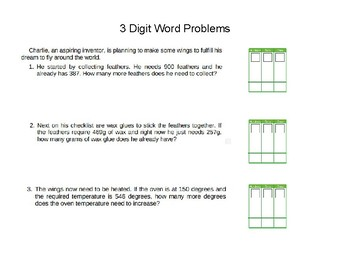 3 , 4 and 5 Digit Addition and Subtraction Enrichment Packet