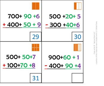2nd Grade Math Calendar - add & sub in expanded form, word form, fractions