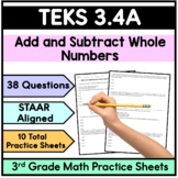3.4A Addition and Subtraction Word Problems (3rd Grade Math STAAR)