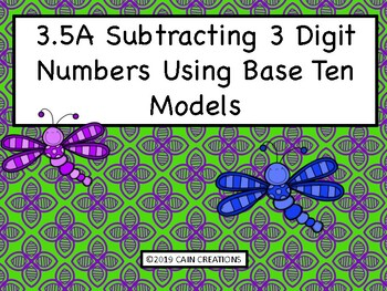 3.4A Subtracting With Base Ten Models