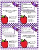 Context Clues-Multiple Meaning Words with Definitions Task Cards Set #1