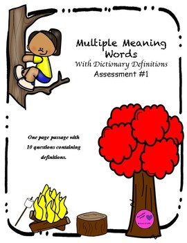 Multiple Meaning Words Assessment #1