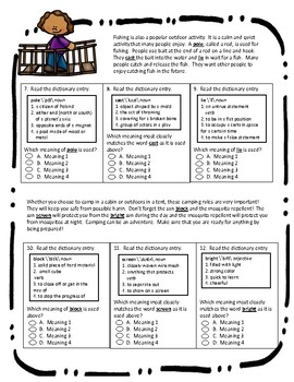 Multiple Meaning Words Assessment #2